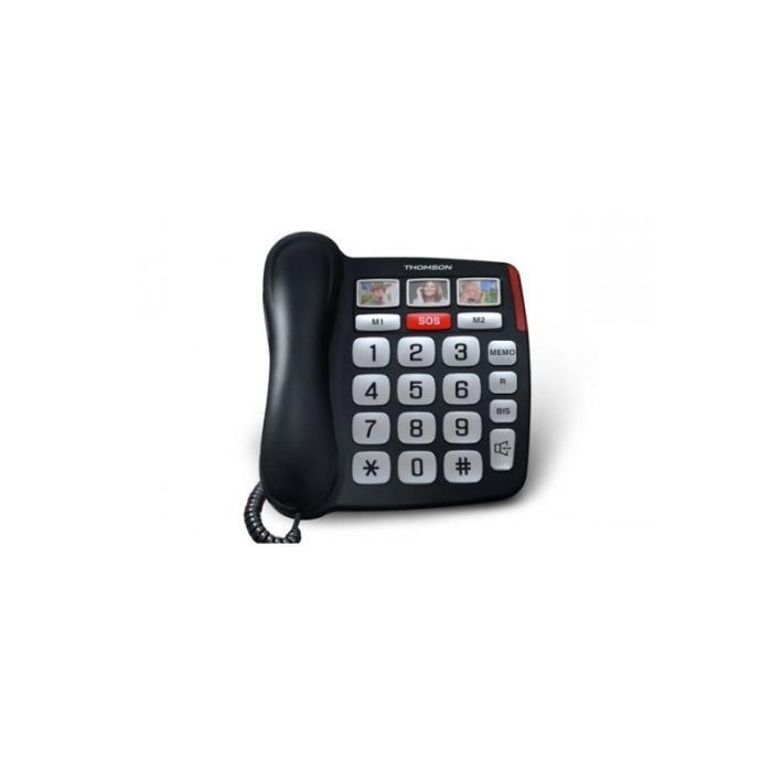 Téléphone Senior Thomson SEREA 520 SAFY Noir