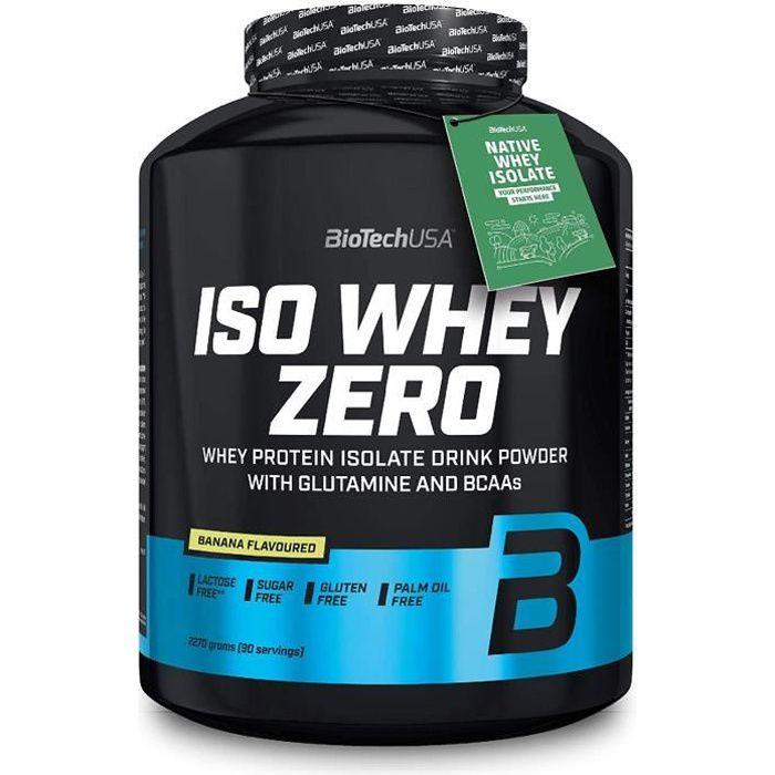 Iso Whey Zero 2270g BANANE Biotech USA - Proteine Musculation