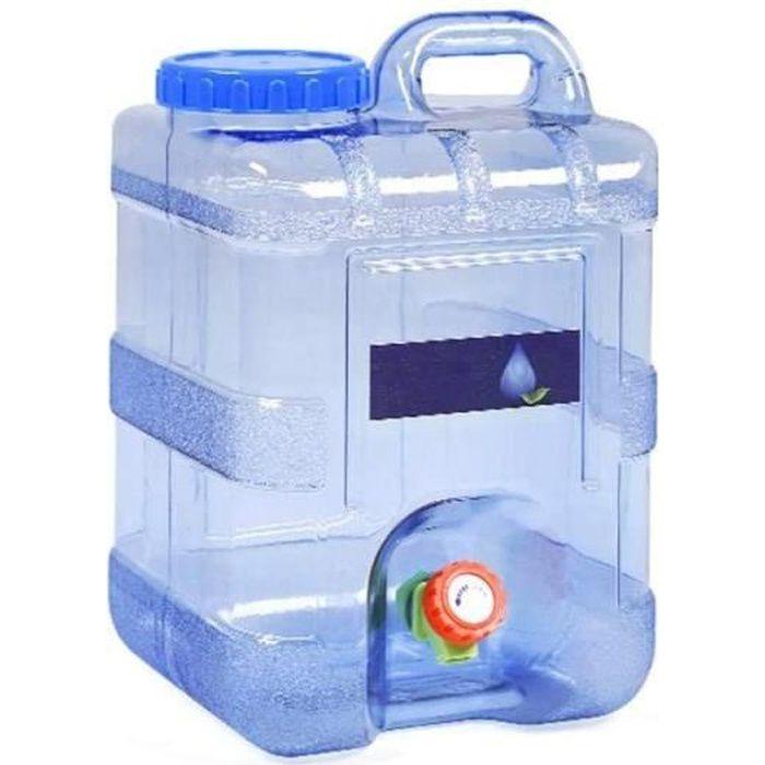Bidon d'eau Portable avec Robinet et Bec verseur pour Voiture, extérieur, Camping, 5/8/15 L, 15L