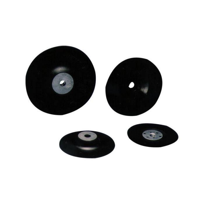 Plateau caoutchouc pour disque fibre sans perforation diam.125