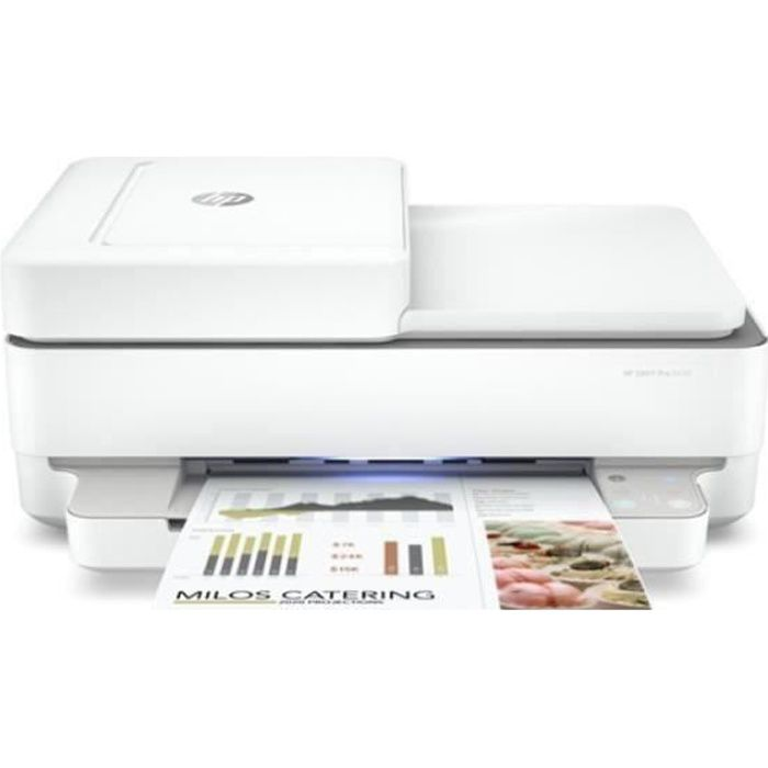 Imprimante HP ENVY PRO 6430 Blanc (2 Cartouches incluses) - Compatible Instant Ink