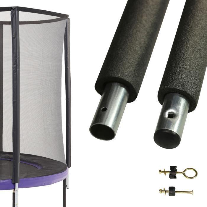 Un poteau de filet de sécurité Ø32mm pour trampolines (longeur 212 cm)