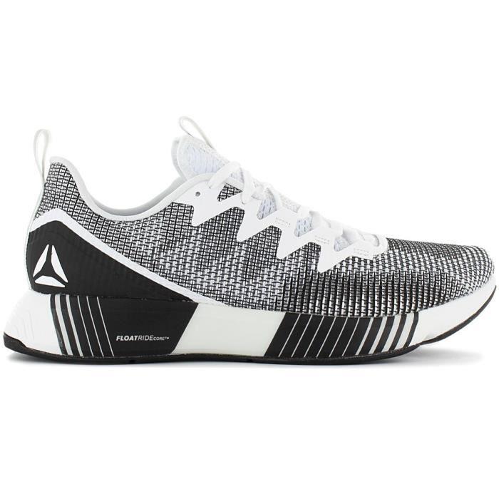 Reebok Fusion Flexweave - Hommes Chaussures de course running sport Blanc Noir CN4713