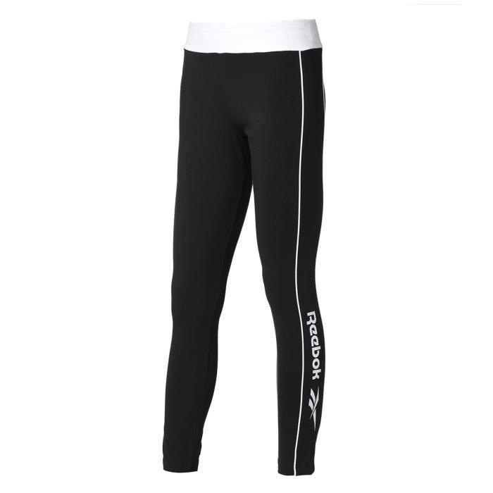 REEBOK Pantalon de jogging CL Linear - Femme - Noir