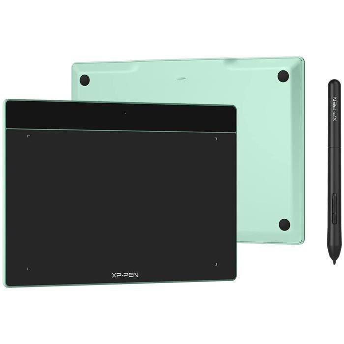 XP-PEN Deco Fun S Tablette Graphique à Stylet Passif 8192 Niveaux avec Inclinaison à 60° Tablette à Dessin 6x4 Pouces Pomme Vert