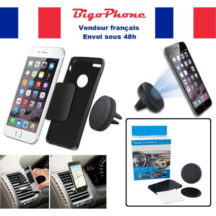 support voiture aimant universel pour tous les t l phones achat fixation support pas cher. Black Bedroom Furniture Sets. Home Design Ideas