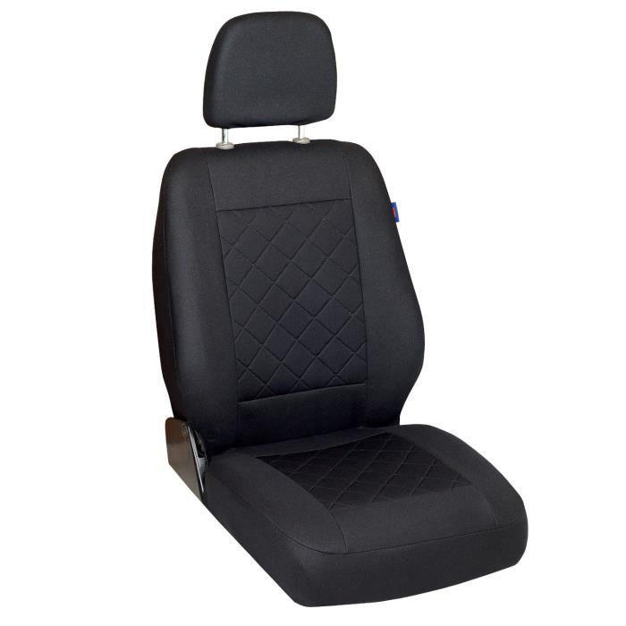 Housse de siège klimatisierend noir Pour RENAULT TRAFIC 3 Standard Court encadré voiture