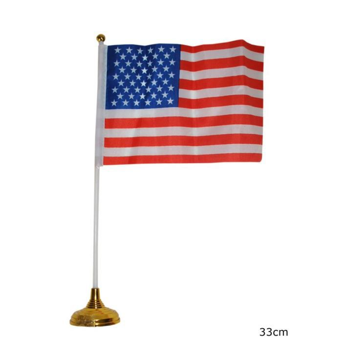 Drapeau usa sur socle achat vente drapeau d coratif for Decoration murale usa