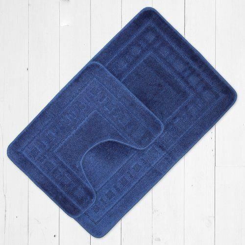catherine lansfield set tapis de bain et tapis contour wc armoni bleu marine achat vente. Black Bedroom Furniture Sets. Home Design Ideas