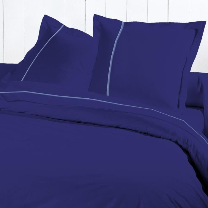 drap housse 160x200 percale bleu roi chambre bon prix moncornerdeco. Black Bedroom Furniture Sets. Home Design Ideas