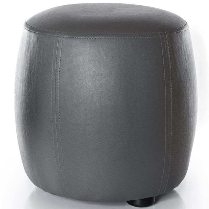 pouf rond gris confortable et design achat vente pouf poire mdf cdiscount. Black Bedroom Furniture Sets. Home Design Ideas