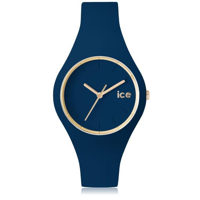 ce79916e6ef90c Ice-Watch - ICE glam forest Twilitght - Montre bleue pour femme avec  bracelet en silicone - 001055 (Small)