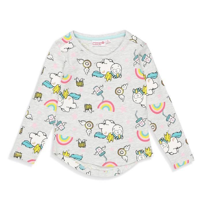 T-SHIRT MON PETIT PONEY T-shirt Licorne Gris Clair Enfant