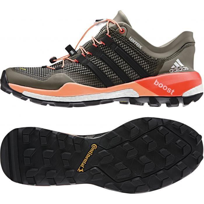 adidas Terrex Boost - Chaussures d'approche Femme - beige/orange