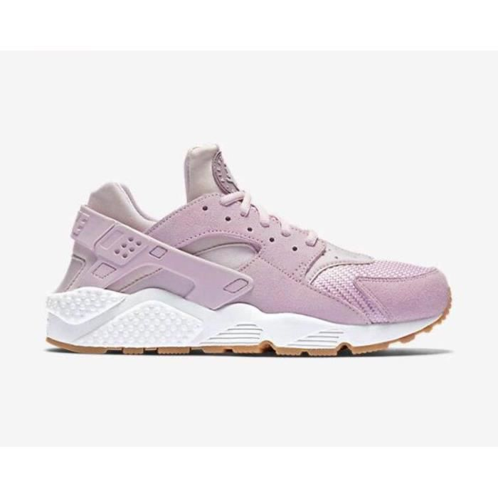 new product 1d61f ae047 Baskets Nike Huarache Run(GS) Chaussures de Running Entrainement Femme Rose
