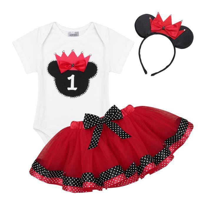 Fille Mickey Mouse Body Enfants Bébé Sets Velvet Tulle Tutu Jupe Vêtements
