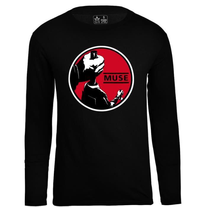 T-SHIRT T-Shirt Homme MUSE Power Tee Shirt Noir Rock Punk