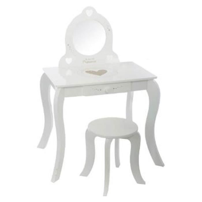 paris prix coiffeuse tabouret enfant 91cm blanc achat vente coiffeuse paris prix. Black Bedroom Furniture Sets. Home Design Ideas