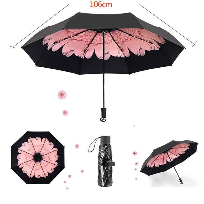 Très Grand Parapluie Pliable Qualité Supérieure Résistant au VentDiam 130 cm