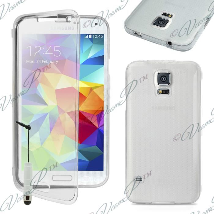 coque gel rabat samsung galaxy s5 transparent achat. Black Bedroom Furniture Sets. Home Design Ideas