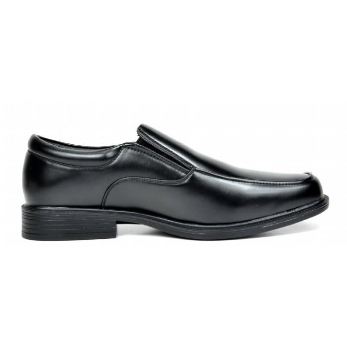 Cuir véritable, caoutchouc Grip Sole Slip On Mocassins NY0YV Taille-42 1-2