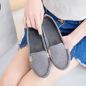 Femmes Flats Mesdames Comfy Ballet Chaussures Soft Slip-On Casual Bateau Chaussures @XMM71214532GN Y8YMA