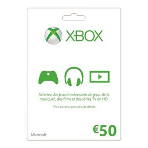 CARTE MULTIMEDIA Carte XBOX Live 50€