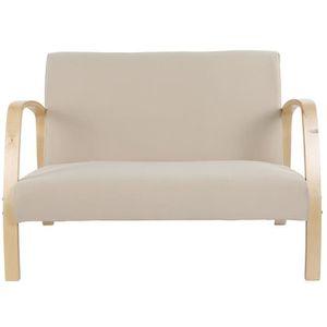 FAUTEUIL FOREVEN Fauteuil en bois Canapé 2 places, chaise d