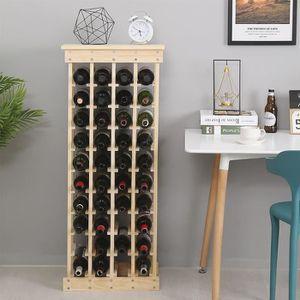 MEUBLE RANGE BOUTEILLE 44 Bouteilles - Étagère à vin en Bois, 46.5*27.5*1