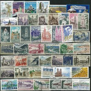 TIMBRE France -  50 Timbres Sites Et Monuments