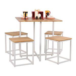 TABLE À MANGER COMPLÈTE Ensemble à manger 1 table et 4 chaises Style Scand