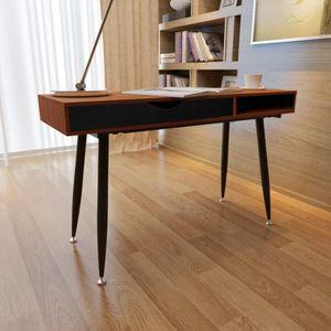 BUREAU  Bureaux Table d'ordinateur Brun