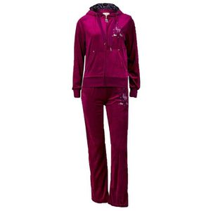 surv tement velours femme fille taille l 42 pantalon jogging et veste capuche violet strass. Black Bedroom Furniture Sets. Home Design Ideas