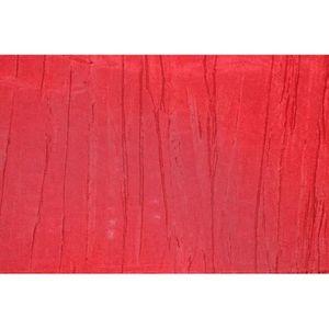 TISSU Tissu Taffetas Plissé Rouge -Au Mètre