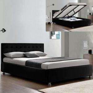 LIT COMPLET Lit complet sommier relevable + tête de lit + cadr