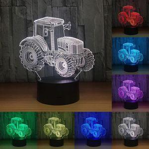 LAMPE A POSER 3D LED Lumière de Nuit Tracteur De Voiture 7 Coule