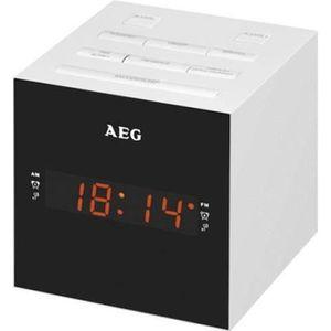 Radio réveil AEG MRC 4150WH Radio Réveil USB + Aux-In - Blanc