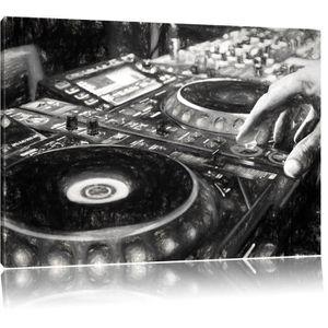 TABLEAU - TOILE console DJ moderne illuminé Photo sur toile   tail