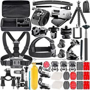 PACK ACCESSOIRES PHOTO 53-en-1 Sport Kit d'Accessoires pour GoPro Hero4 S