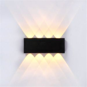 Louvra Applique LED Murale Int/érieure 7W Lumi/ère Lampe D/écoratif Moderne Originale Simple Design Aluminium Mural Pour Chambre Maison Couloir Salon Salle /à Manger Blanc