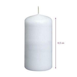 15 x 5,5 cm temps de combustion 55 heures blanc Lot de 2 Bougies cylindriques blanches