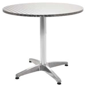Table de Jardin Ronde en Aluminium 80 x 70 cm - Achat / Vente table ...