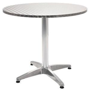 Table de Jardin Ronde en Aluminium 80 x 70 cm - Achat ...