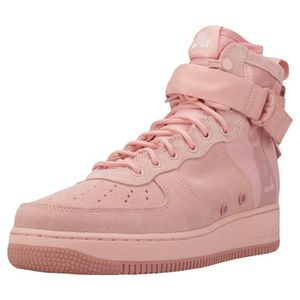 BASKET Nike Sf Air Force 1 Mid Homme Baskets corail