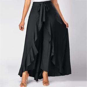 JUPE Femmes gris à glissière latérale Tie Pantalon Supe