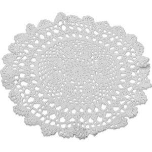 Décors de table NAPPERON CROCHET BLANC 30 CM  Blanc