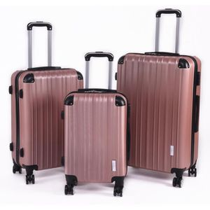 SET DE VALISES Set 3 Valises, ROSE DORE 8 Roues Pivotantes