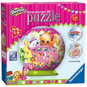 PUZZLE Ravensburger Puzzle 3D Shopkins 72 Pièces Diamètre