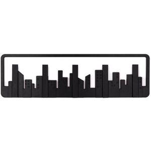 PORTE-MANTEAU Porte-manteaux noir skyline 5 crochets 49,5x8x1…