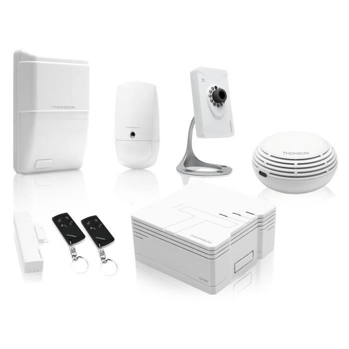 THOMSON Pack Alarme maison sans fil avec caméra de surveillance connecté 510762